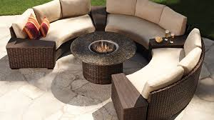 patio furniture sets with fire pit. Delighful Pit Lloyd Flanders Contempo Curved Sectional Sofa And Fire Pit Set Intended Patio Furniture Sets With H