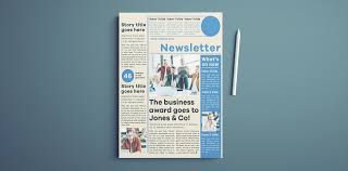 Free Newsletter Layouts Modern Newsletter Template For Indesign Free Download