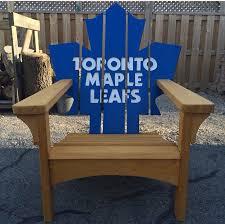 toronto maple leafs adirondack muskoka chair