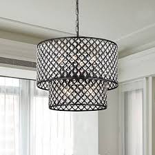antique black 8 light double round crystal chandelier