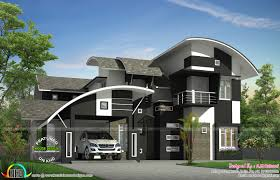 2650 sq-ft contemporary curved roof home