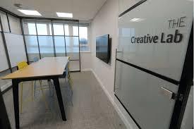 sliding whiteboards fusion office design