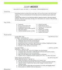 Resume For Construction Worker Construction Laborer Resume Summary Of Qualifications On Resume For