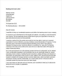 banking job banking cover letter template