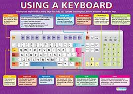 Using A Keyboard Ict Posters Gloss Paper Measuring 850mm
