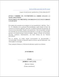 ejemplo de una carta de recomendacion personal carta de recomendacion formato rome fontanacountryinn com