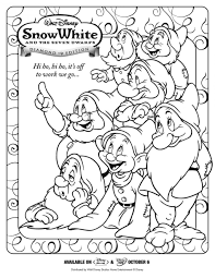 Small Picture Coloring Pages Download Seven Dwarfs Coloring Pages Snow White