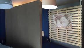 Multipurpose Wooden Partition From STOLMEN And LADE  V