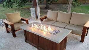 patio furniture fire