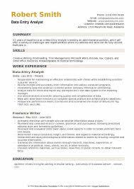 Data Entry Skills Resumes Data Entry Analyst Resume Samples Qwikresume