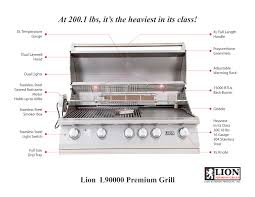 lion 40 built in grill outdoor residential