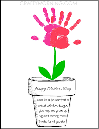Small Picture Printable Poem Flower Pot for Mothers Day Poem Flowers and Flower