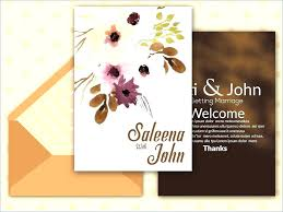 Invitation Card Template Free Download Wedding Invitation Design
