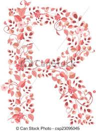 Romantic Letter Custom Romantic Floral Letter R