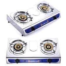 outdoor gas stove portable 2 double burner gas stove cooking propane outdoor camping portable 2 double