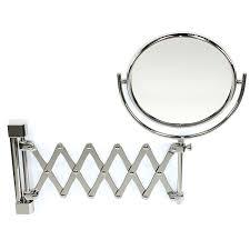 makeup mirror windisch 99148 wall mounted brass extendable double face 3x 5x