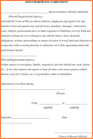 Hold Harmless Agreements 24 Release And Hold Harmless Agreement Template Purchase Agreement 10