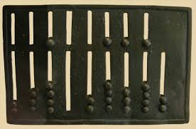 ancient abacus. the ancient romans designed first portable calculating device for use by moneychangers and bankers, businessmen, engineers. this roman abacus a