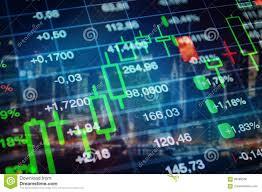 Wallpaper Coverage Chart Stock Market Economy Background Stock Photo Image Of