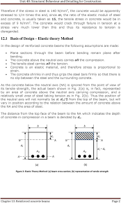 Elastic Theory Of Design Unit 48 Structural Behaviour And Detailing For Construction