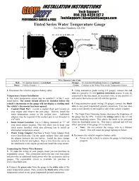glowshift gauges wiring diagram diy wiring diagrams \u2022 egt probe wiring diagram at Egt Gauge Wiring Diagram