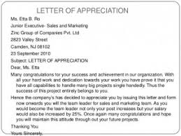 Appreciation Letters Letter Samples Templates