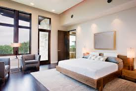 recessed lighting bedroom. Contemporary Apartment Bedroom Design With Warm Wall Paint Color Shades And Modest Recessed Lighting As Well I