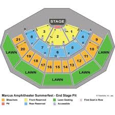Marcus Amphitheater Seating Chart With Rows And Seat Numbers Marcus Amphitheater Seat View Marcus Amphitheater Seating