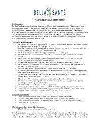 Mechanic Job Description For Resume