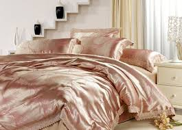 rose gold silk bed sheets