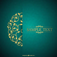 Free Invitation Background Designs Green And Floral Vintage Card Vector Free Download