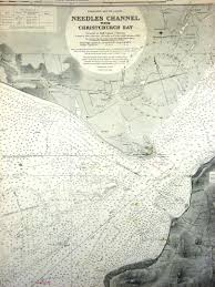Nautical Charts New England Coast England South Coast Needles Channel With Christchurch