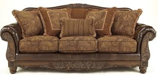 Living Room Antique Furniture Fresco Durablend Antique Living Room Set From Ashley 63100