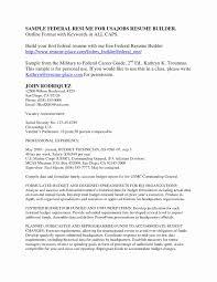 Usajobs Resume Sample Fresh Federal Resume Builder Usajobs Usa Jobs