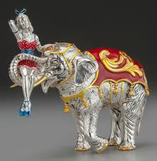 A TIFFANY & CO. SILVER AND ENAMEL <b>CIRCUS ELEPHANT</b>   Lot ...
