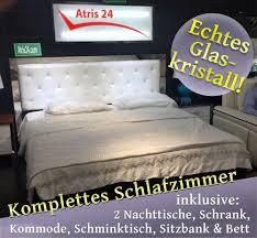 Schlafzimmer Hochglanz In Weiss Mit Strasssteinen Atris 24