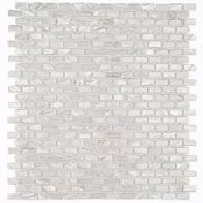 splashback tile mother of pearl mini brick pattern 11 1 4 in x