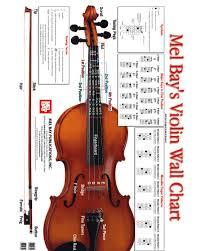 Mel Bay Violin Wall Chart Jim Laabs Music Store