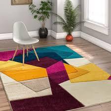 mid century modern rug awesome ebern designs herring mid century modern violet geometric area rug within