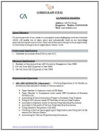 resume format for experienced accountant with resume format for experienced accountant doc