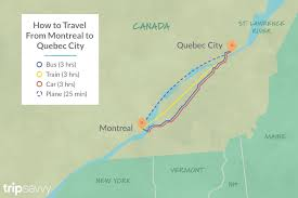 Canadian City Distance Chart Options For Getting From Montreal To Quebec City