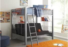 Build-a-Bunk Gray 4 Pc Full Futon Loft Bed - Bunk Beds Metal