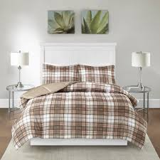 image is loading tan plaid full queen comforter set madras lumberjack