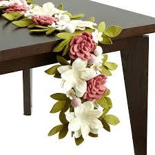 floral garden felt table runner  floral table runner  uncommongoods