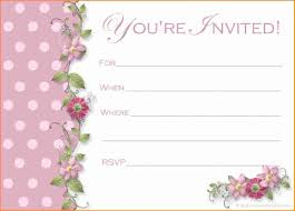 Word Template For Birthday Invitation Birthday Invitation Template Word Lovely Menu For Baby