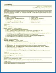 Beautiful Welder Resume Image Collection Documentation Template
