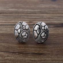 cownine women s fashion retro ear clips strange shape ancient silver jewelry earrings gift china