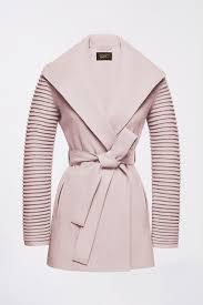 Sentaler Designer Wrap Coat With Ribbed Sleeves Sentaler