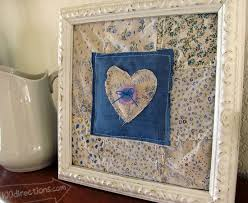 recycled fabric s wall decor craft