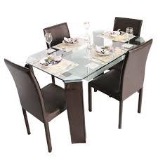 Metal Kitchen Table And Chairs Emerald 4 Seater Metal Dining Table Set Woodys Furniture